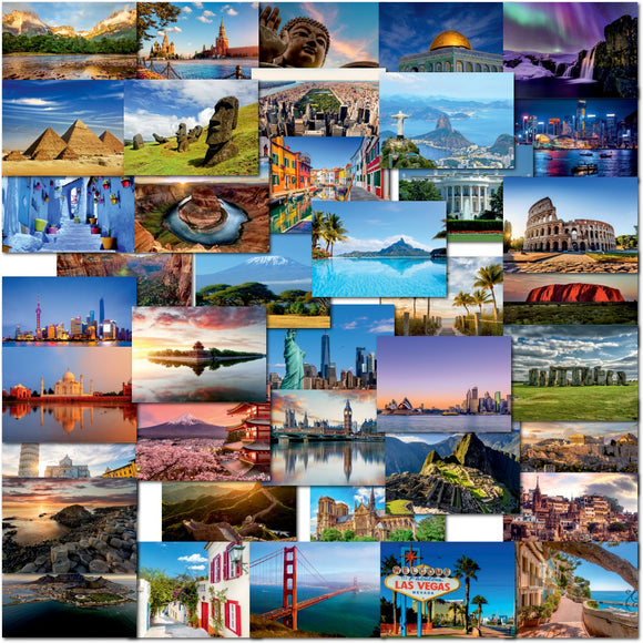 Pack of 40 Mixed Postcards All Different Travel