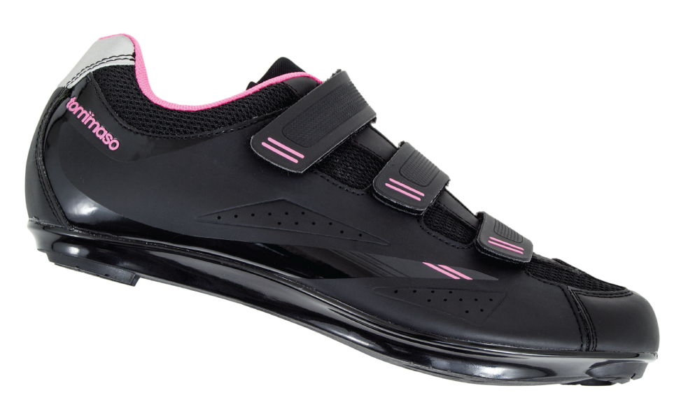 Blue Black SPD Tommaso Pista 100 Womens Spin Class Ready Cycling Shoe with Compatable Cleat Look Delta White Pink
