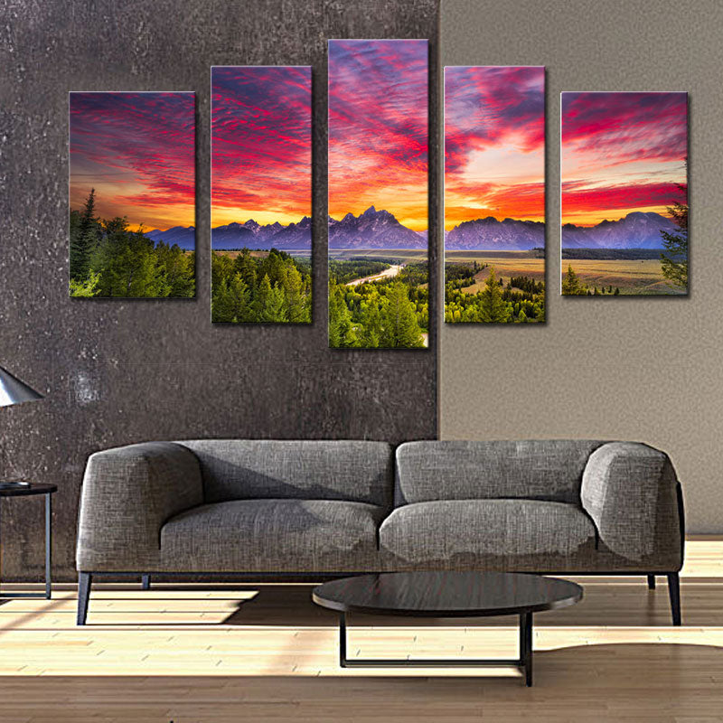 Sunset Mountain Wall Art Grand Teton National Park Unique Empire Products