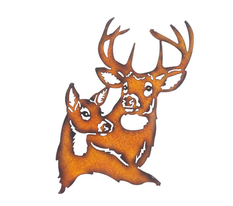plasma cut iron rustic buck and doe unique empire products