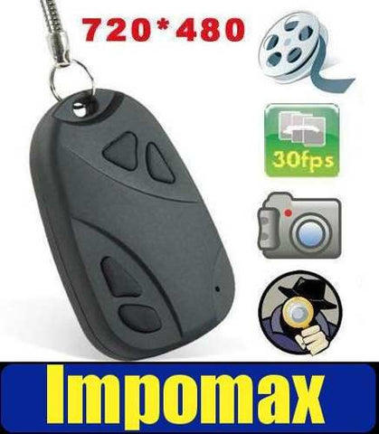 Mini Camara Espia 720 * 480 Llavero Carro Video Audio @ 16gb - impomax