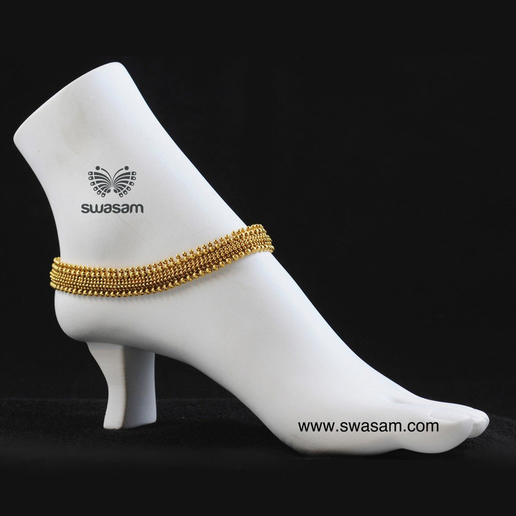 Antique Gold Anklet