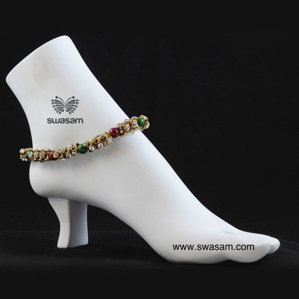Red Green Anklet