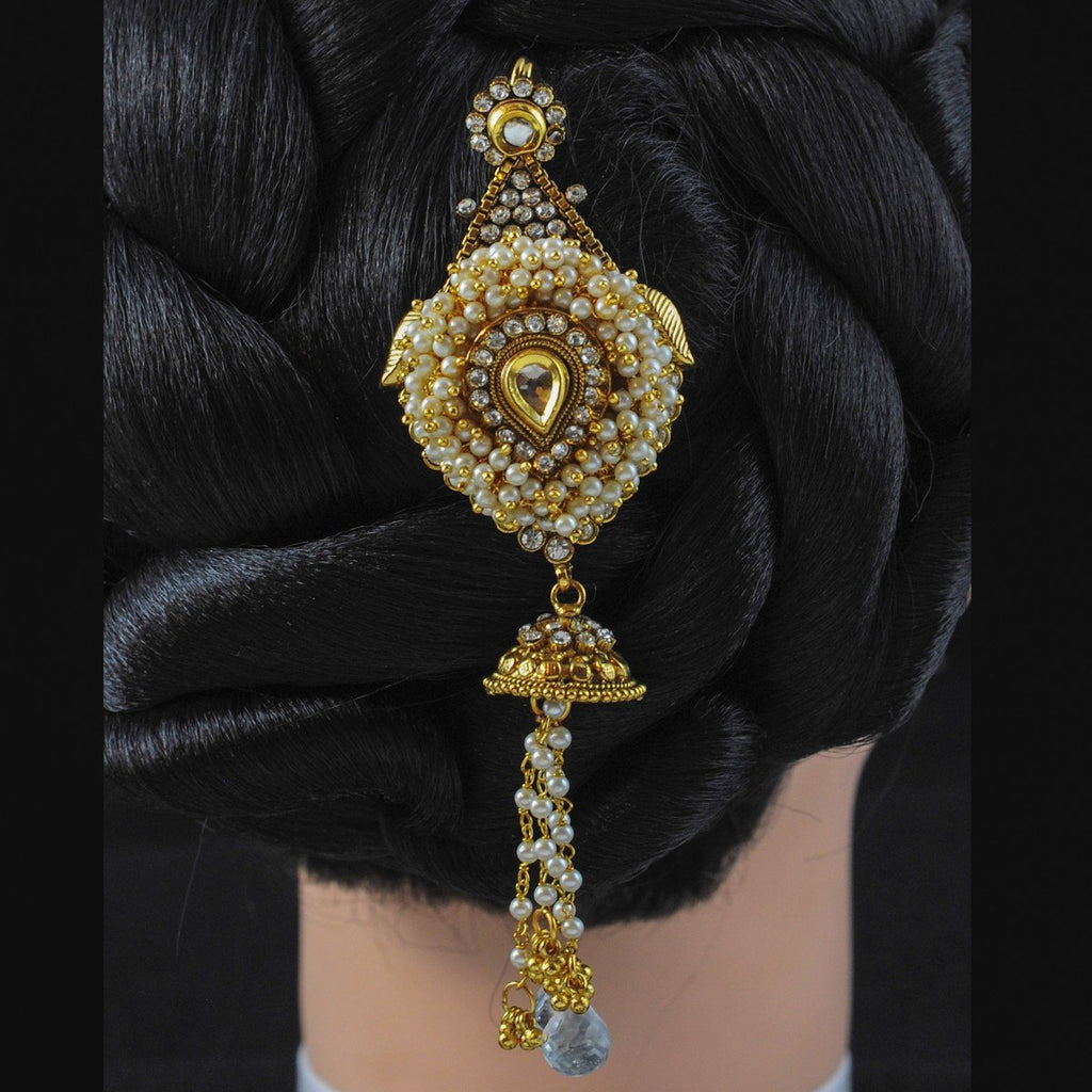 Hair Accessories White Stone
