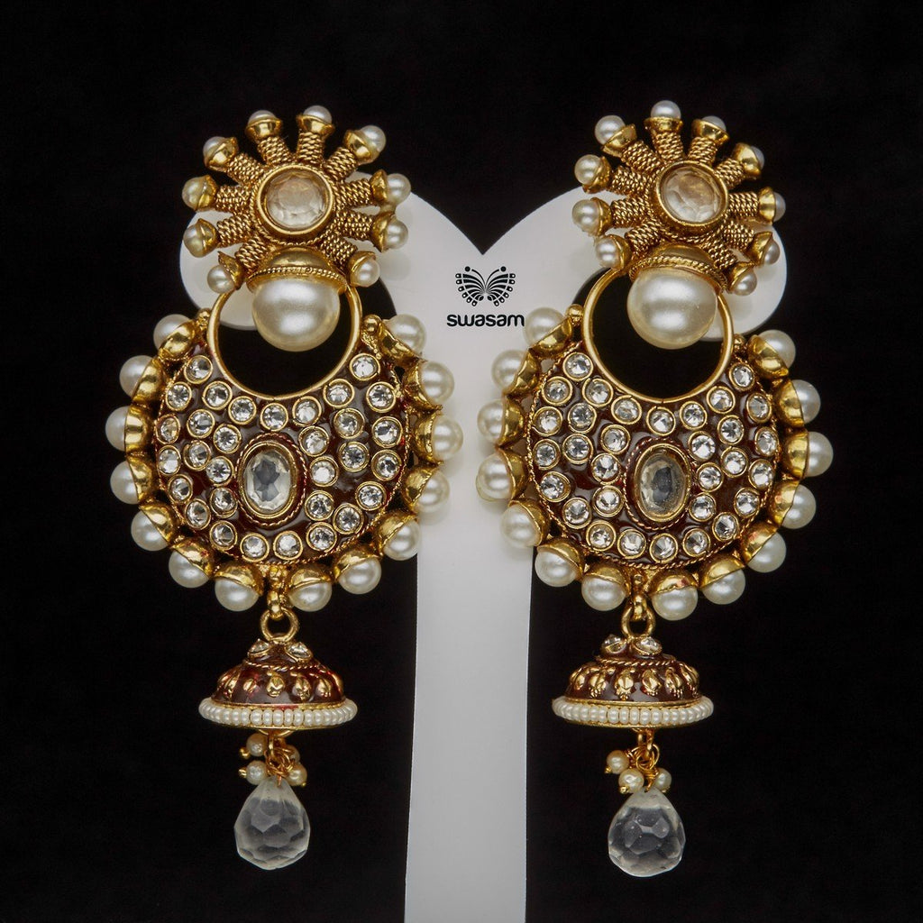 Earrings White Stone