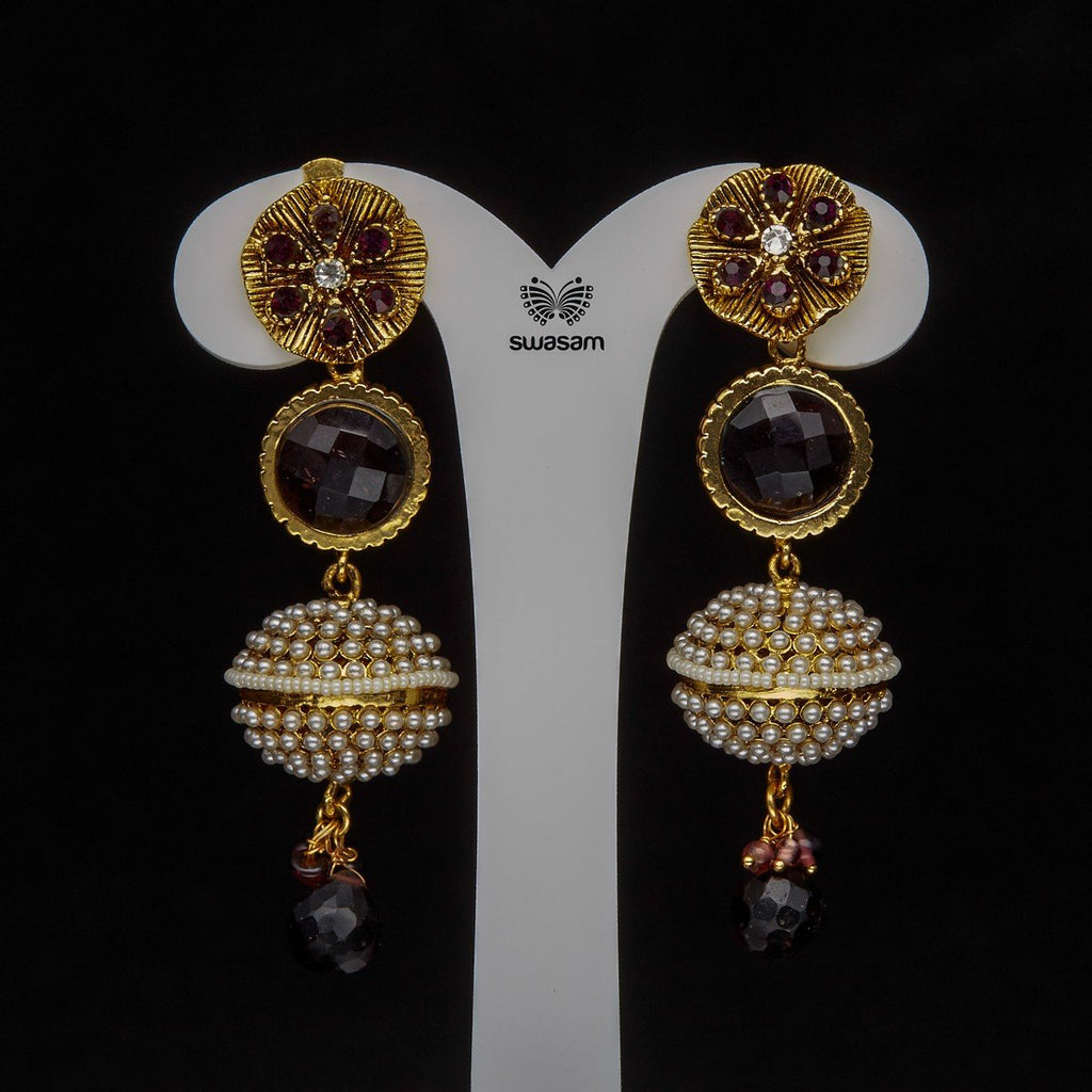 Earrings Purple