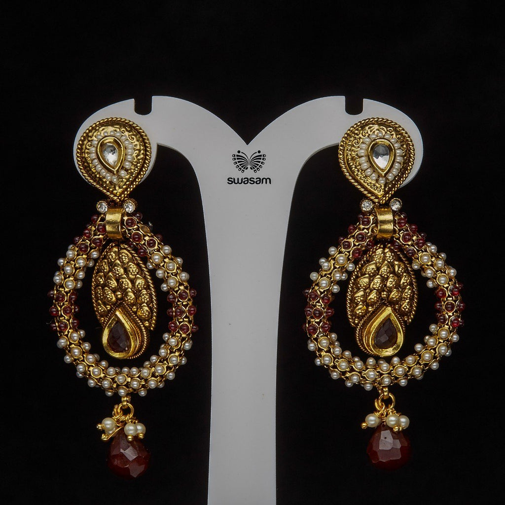 Earrings Antique Gold