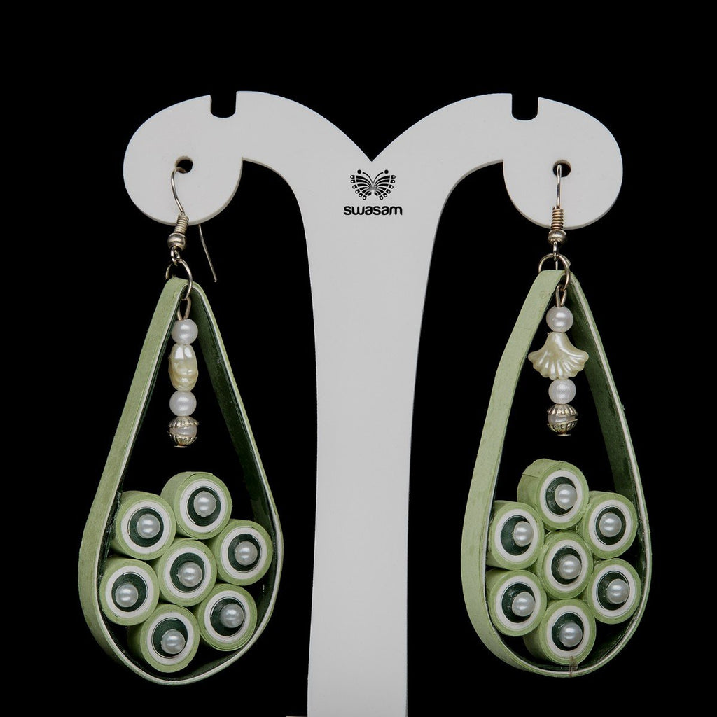 Earrings Apple Green