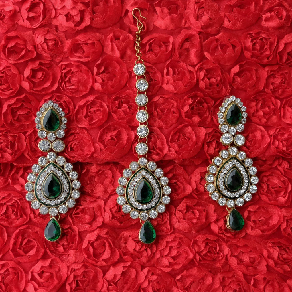 Earring Tikka Green