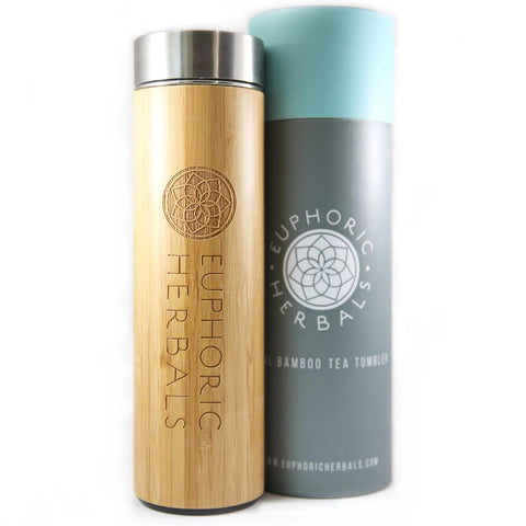 Bamboo Stainless Steel Infuser - Euphoric Herbals