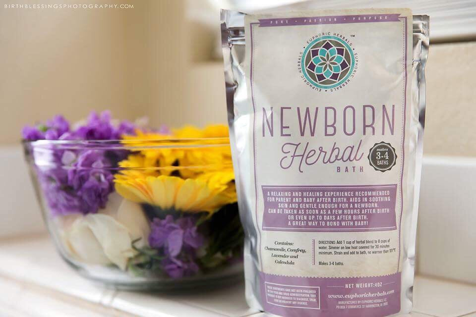 Newborn Herbal Bath - Euphoric Herbals