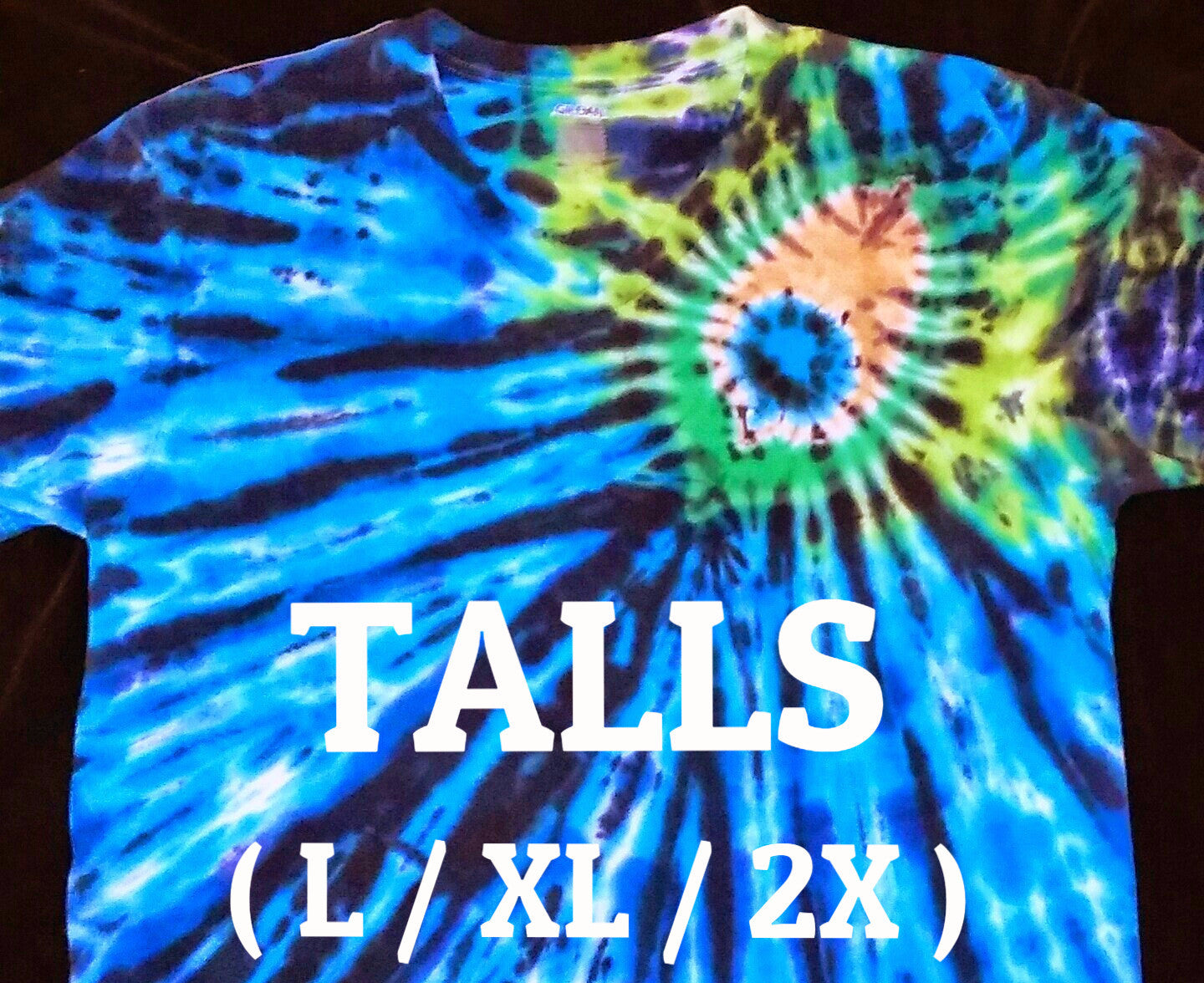 Tie dye peacock tall t-shirt