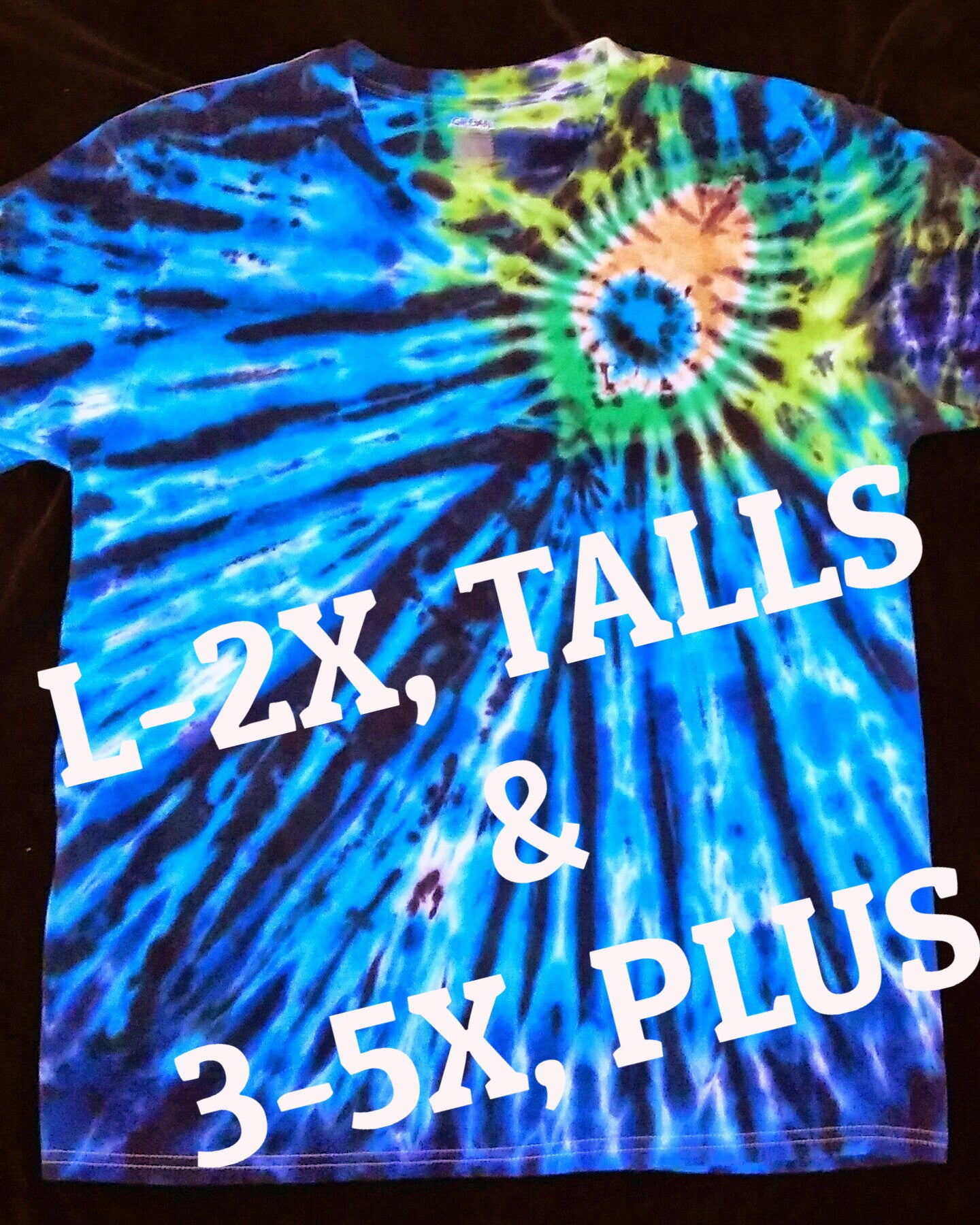 TIE DYE PEACOCK T-SHIRT, TALL & PLUS SIZES