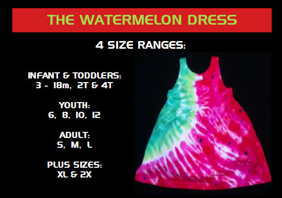 DRESSES- FOR LITTLE PEOPLE AND ADULTS WATERMELON DRESS