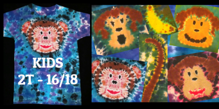 TIE DYE MONKEY KIDS TEES