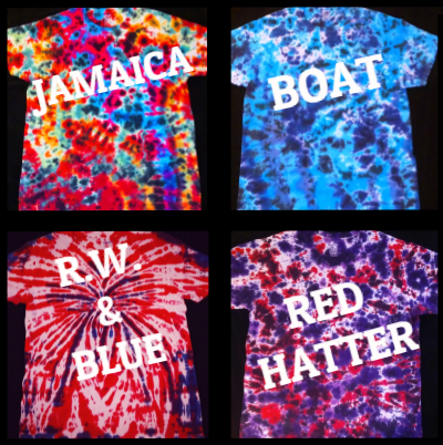 Colorful tie dye shirts, adult & kid size