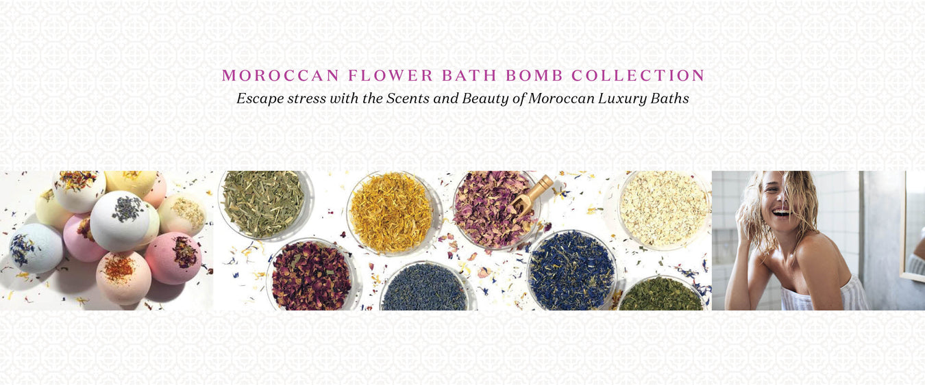 Moroccan Flower Bath Bomb Collection