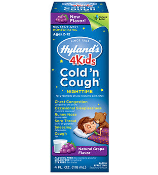 Hyland's 4 Kids Cold 'n Cough Nighttime Grape Flavor