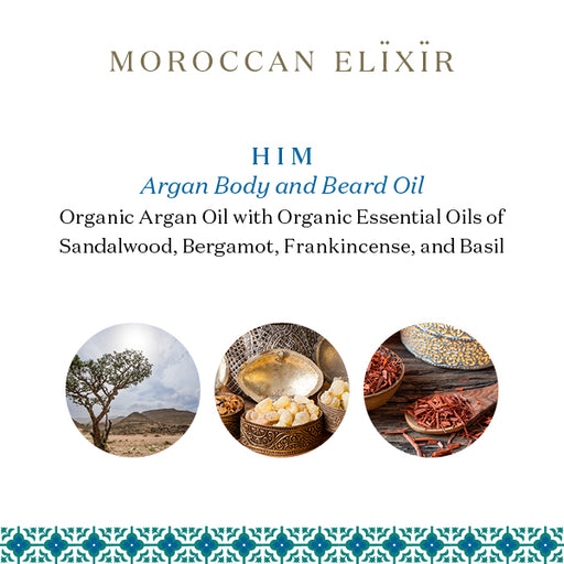 HIM.  Argan Beard and Body Oil