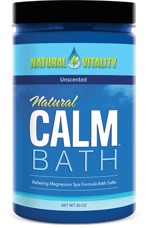 Natural Calm Bath – Unscented (20 oz)