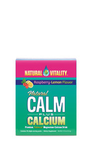 Natural Calm Plus Calcium Packets Organic Raspberry Lemon (30 count)