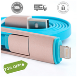 2 in 1 Charger Cable (iPhone/iPad/Android)