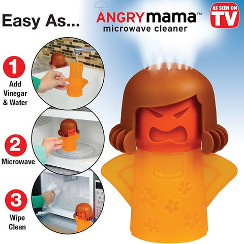 Angry Mama - #1 Cleaning Solution for Microwave Ovens!