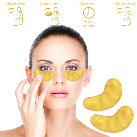 Perfect Collagen 24 Karat Gold Eye Mask - #1 Solution for Aging Skin