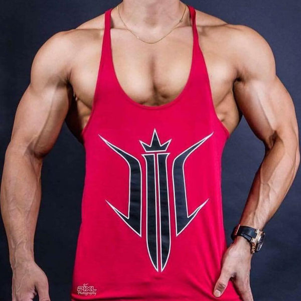 Dziah Stringer singlet Red/black