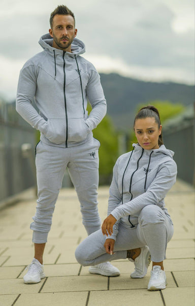Dziah Hoodies Grey