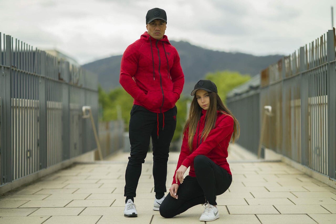 Dziah Tracksuit Red and Black