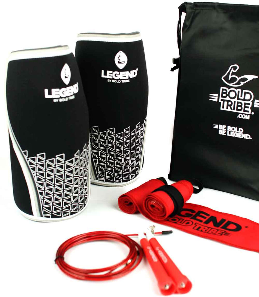 Rodilleras Legend Crossfit 7 mm con muñequeras legend wraps
