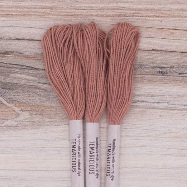 Temaricious embroidery thread R24 red brown