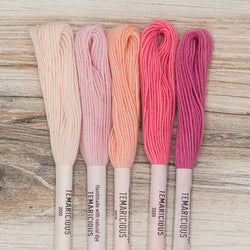 Temaricious embroidery thread set pink