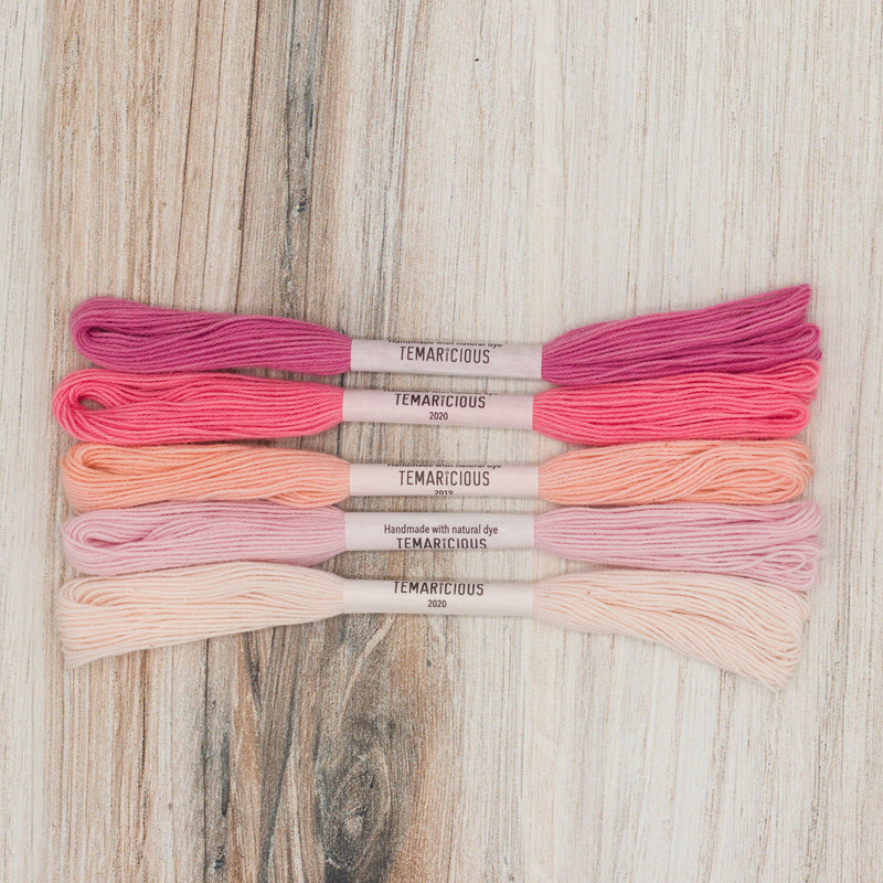 Embroidery Thread Set: Pinks