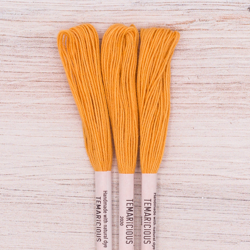 Temaricious embroidery thread Y11 orange