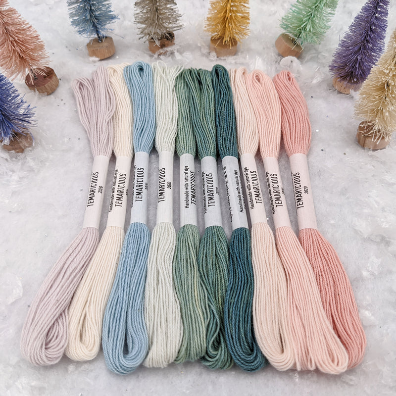 Temaricious embroidery thread set Sugar Snow
