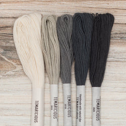 Temaricious embroidery thread set neutrals