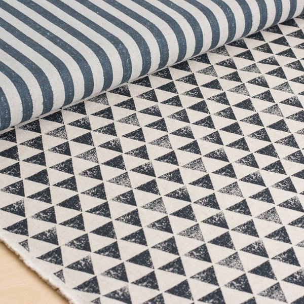 Stripes and Triangles (Gray & Black) - Canvas