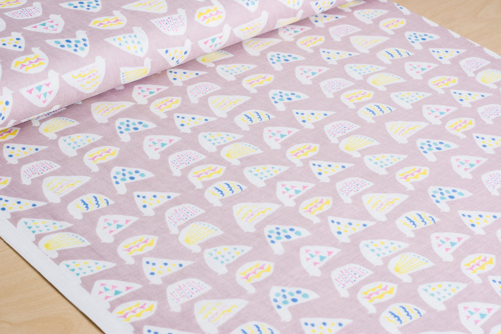 Cute Chickens (Pink) - Cotton Double Gauze