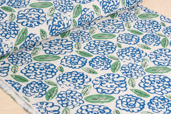 Flowers (Blue) - Linen / Cotton