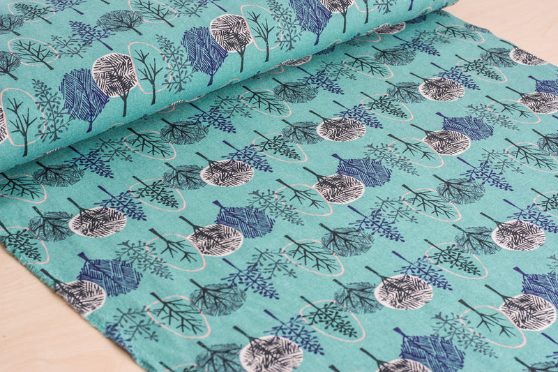 Forest (Green, Blue) - Linen / Cotton