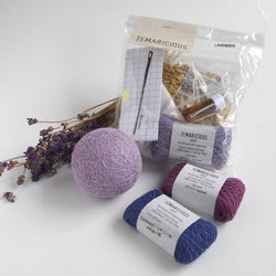 Temaricious temari ball kit in lavender
