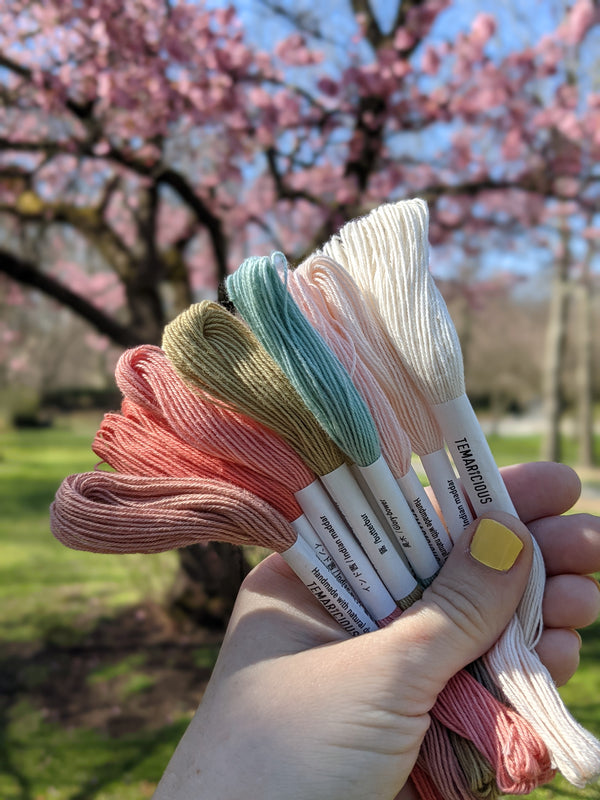 Temaricious embroidery thread set Hanami