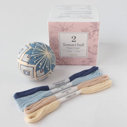 Temaricious temari ball kit peach blossom blue