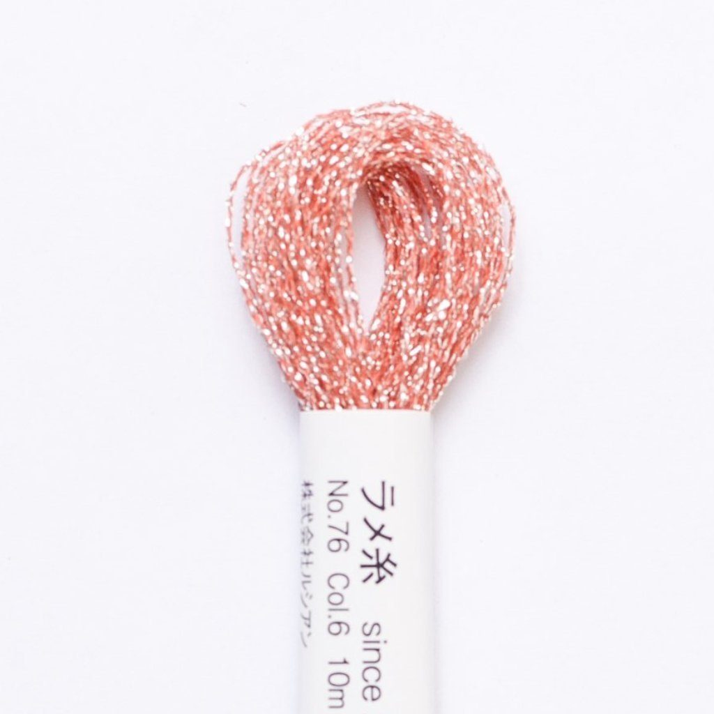 Embroidery Floss - Metallic Floss - Peach #6