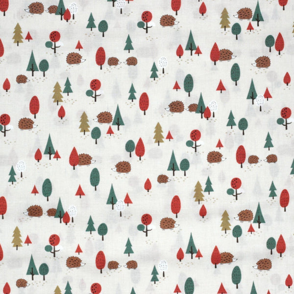 Fabric - Hedgehog Forest - Cotton Sheeting