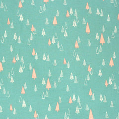 Fabric - Little Trees (Green) - Brushed Cotton