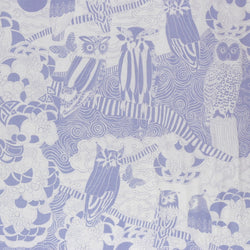 Kokka Japanese owl fabric - Scandinavian Diary - lightweight canvas - 1/2 YD