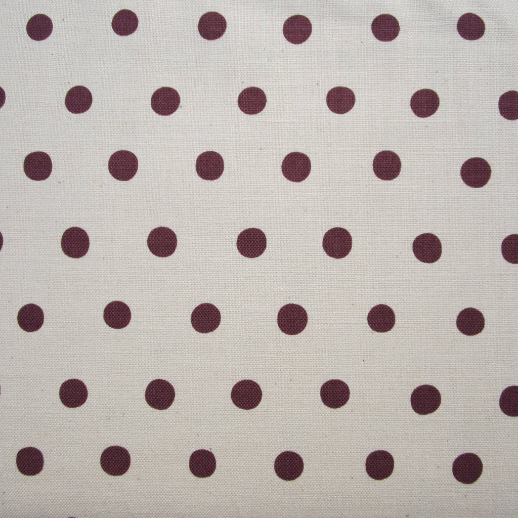 Japanese Fabric by Etsuko Furuya for Kokka - Purple Polka Dots on White Cotton & Linen - 1/2 Yard